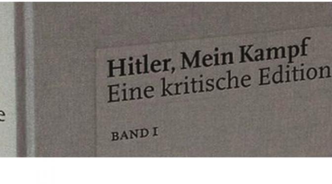Table ronde autour de l'édition critique allemande de «Mein Kampf», 16 mars 2016